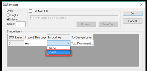 How can I Import a board outline using DXF? – DesignSpark