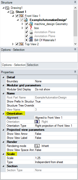 Drawing Sheets Orientation Scale Of Views Designspark Support