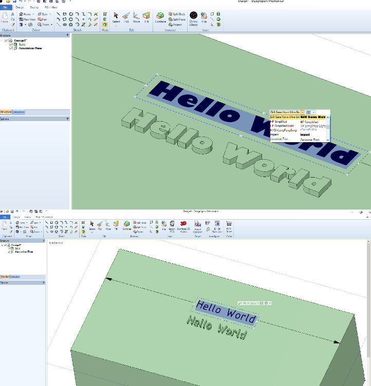 How do I add text to a design? – DesignSpark Support