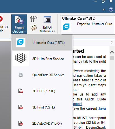 What is the DSM Ultimaker Cura plug-in? – DesignSpark Support