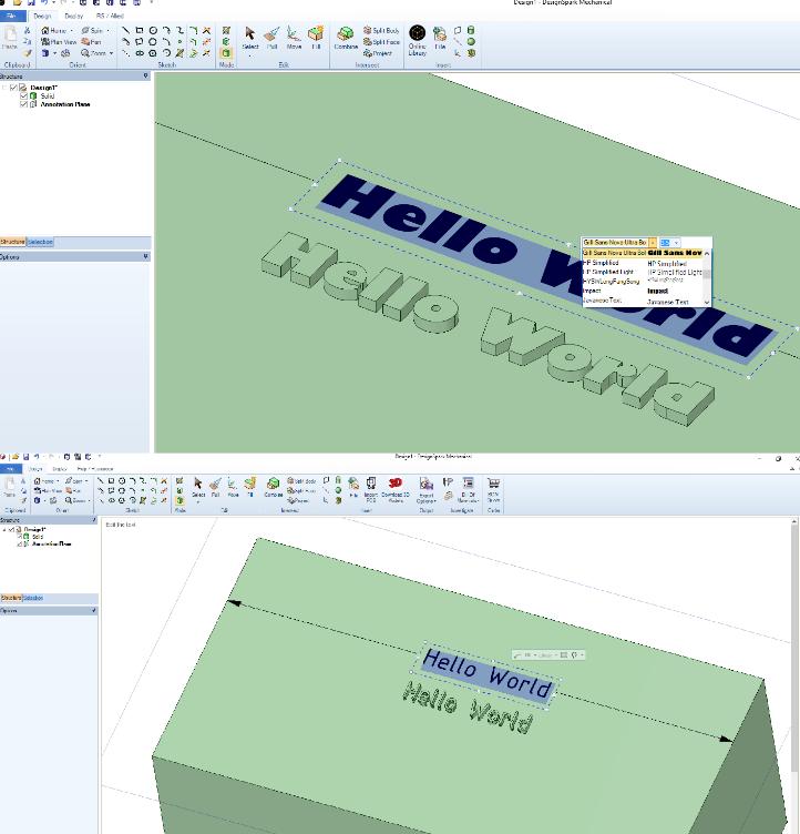 Comment ajouter du texte à un dessin? – DesignSpark Support